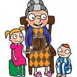 grandmother-reading-book-to-gradchildren-23582264